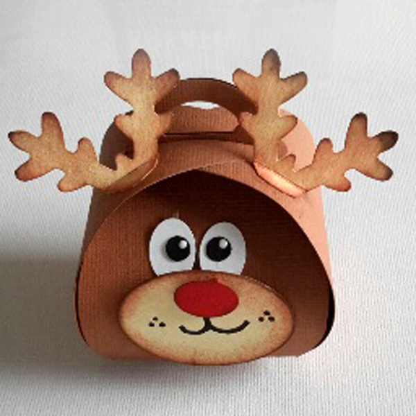 Curvy Keepsake Gift Box Rudolf1