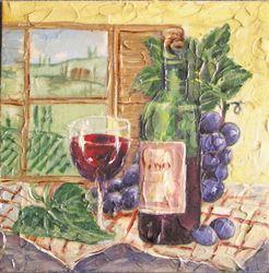 Wein vor dem Fenster