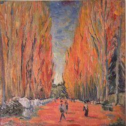 Les Alyscamps, Allee in Arles (van Gogh)