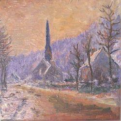 Die Kirche von Jeufosse im Schnee (Monet)