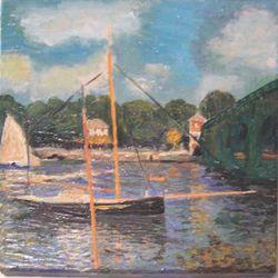 Die Straßenbrücke in Arenteuil (Monet)