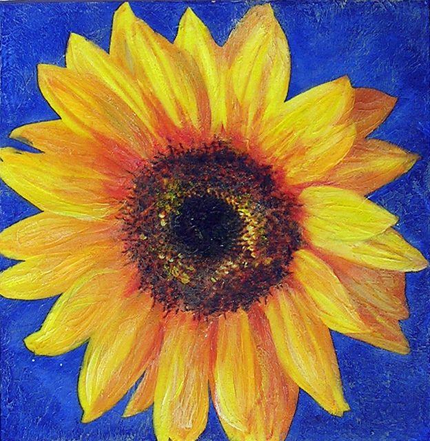 Sonnenblume mit Serviette und Easy Painting überarbeitet