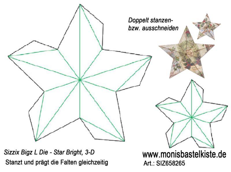 Sizzix Bigz L Die - Star Bright, 3-D