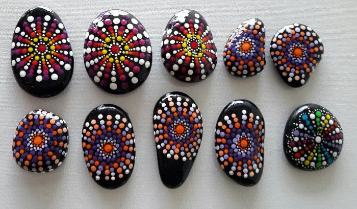 Glücksteine Mandala (1)