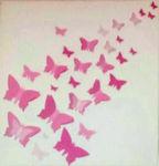 Schmetterlingsbild-2-rosa auf weiß