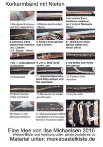 Korkarmband mit Nieten- Anleitung
