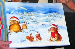 Weihnachtstiere im Wald auf Leinwand 30x40cm von Lissi gemacht