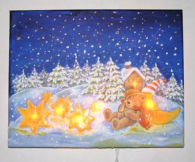 Teddy mit Sterne, mit Beleuchtung