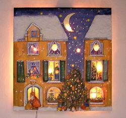 Weihnachtshaus, mit Beleuchtung