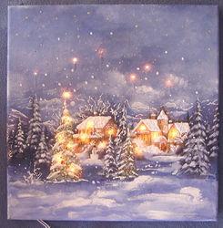 Winterlandschaft auf Leinwand 40x40 beleuchtet.JPG