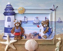 Bärenspaß am Strand VERKAUFT