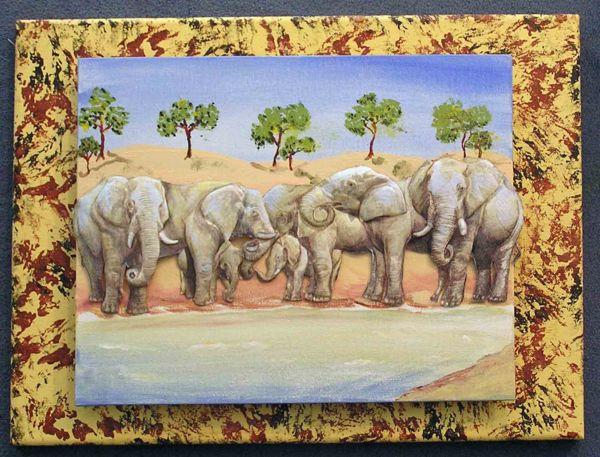 Elefantenparade in 3D von Uschi Rachow im Kurs gemacht.