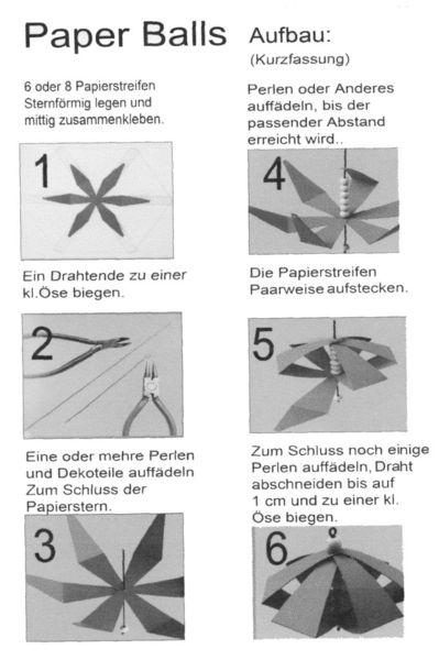Paper Ball Anleitung (Kurzfassung)