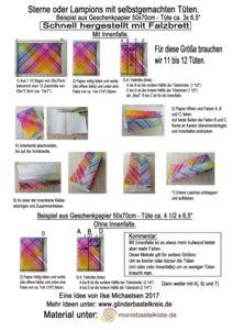 Herstellung von Papiertüten mit Falzbrett