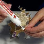 3D-Sternenkugel Spitzen gegeneinander kleben