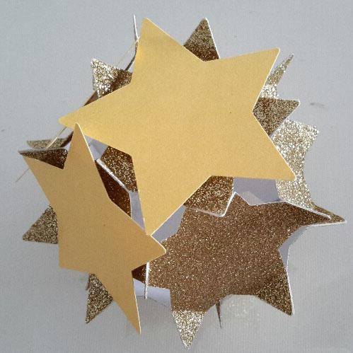3D-Sternenkugel mit Anfang 2.Schicht.