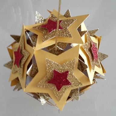 3D-Sternenkugel mit 4 Schichten, groß