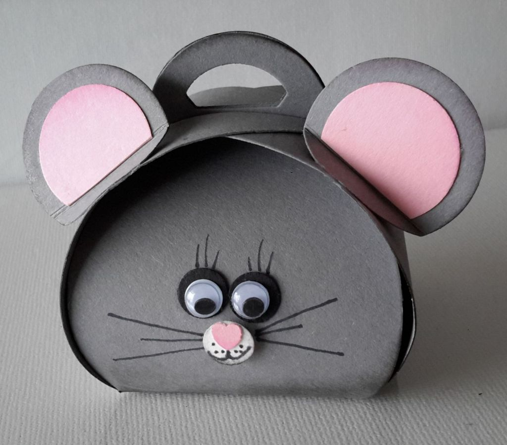 Curvy Keepsake Gift Box  graue Maus-1