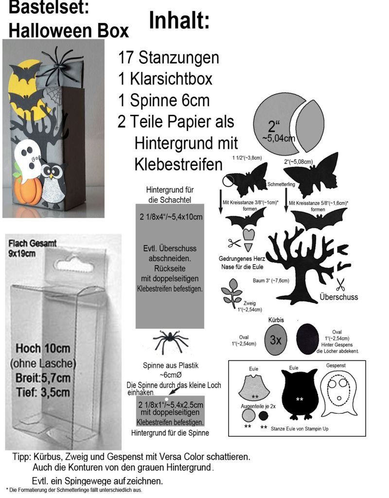 Punch Art Halloween Bastelset mit Anleitung- Tutorial