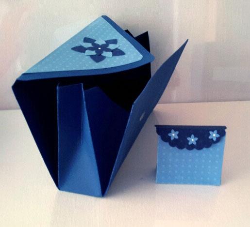 Concertina-Schachtel groß klein