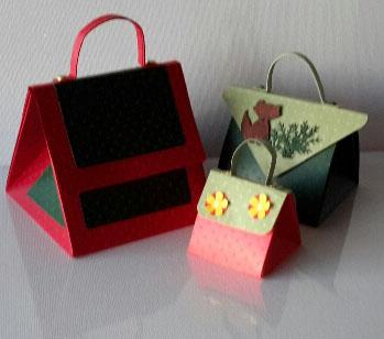 Handtasche-Schachtel mittel und klein
