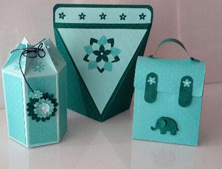 Hexagonal, Selbtstöffnende-Schachtel und Schulranzen-Schachteln