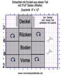 Box-Würfelschachtel mit Deckel