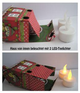 Haus mit Box und LED-Lichter