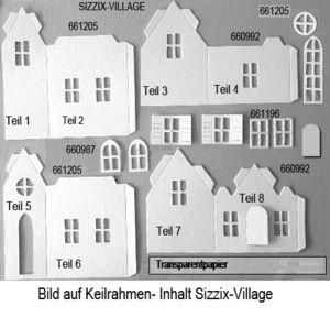 mines michaelsen glinder bastelkreis bastelset bild auf keilrahmen mit sizzix village. Black Bedroom Furniture Sets. Home Design Ideas