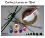 Quilling Blumen-Material