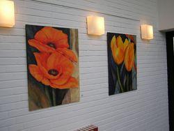 Bilder 22,23 Vorne:Mohnblumen auf Fantasie-Hintergrund