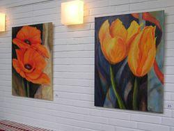 Bilder 23,22 Vorne 23 Tulpen auf Fantasie-Hintergrund