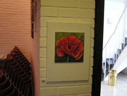 Bilder 30 Mohnblume auf 20x20 Malkarton, diesen auf Keilrahmen 30x40cm