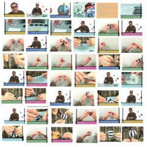 Paperball-Anleitung aus den Video bei www.carlosnmolina.com Bild nochmals anklicken zum vergrößern.